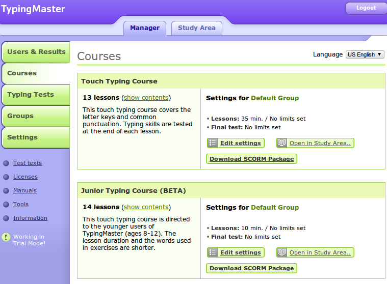 Online Typing Tutors #moodle | Around the Corner