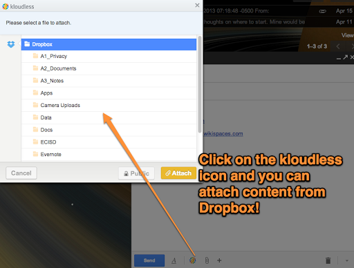 how to send large files in yahoo mail using dropbox